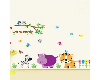 Kindergarten Zoo Wall Decal