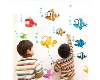 Fish & Bubble Undersea World Wall Sticker
