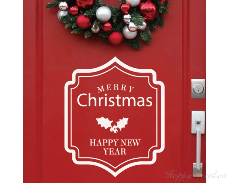 Merry Christmas and Happy New year!-Wall Quote- Holiday Decor - Christmas Vinyl Decal