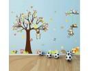 Tree Zoo Wall Sticker for Nursery, Squirrel, Fox,Owls, Monkey Wall Decal