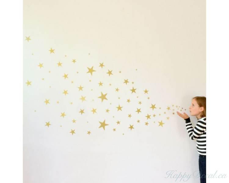 Set of Stars Wall Pattern