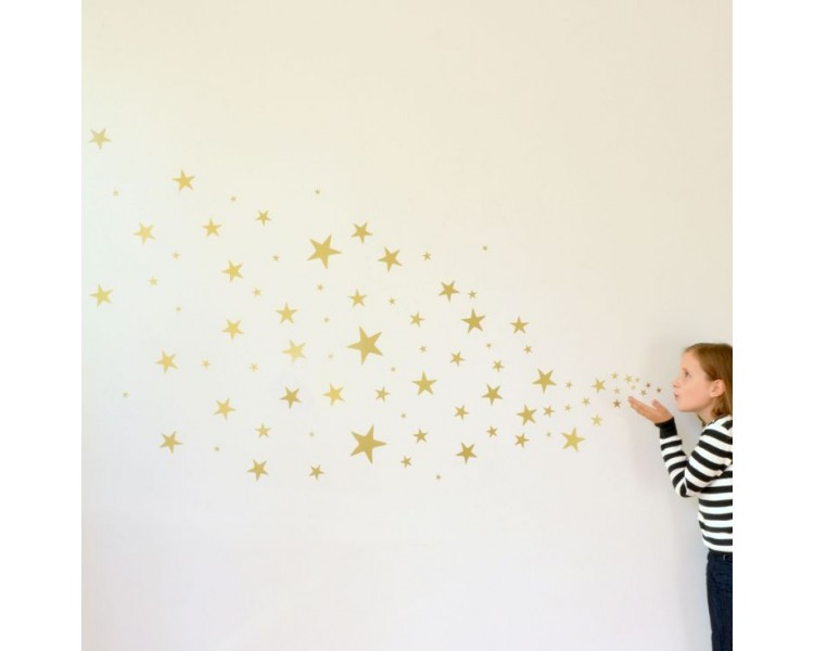 Set of Stars Wall Decal Nursery Modern Pattern Vinyl Sticker