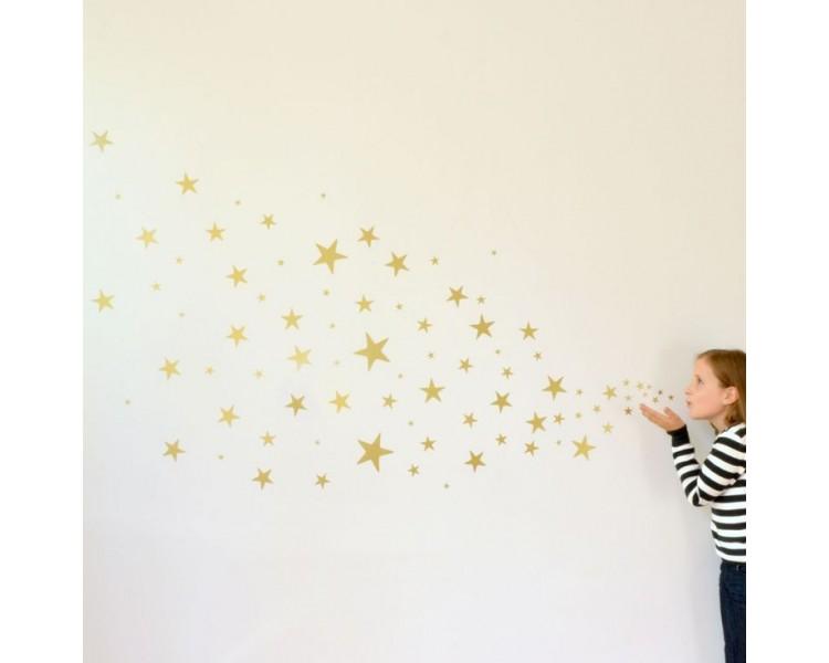 Set of Stars Wall Pattern