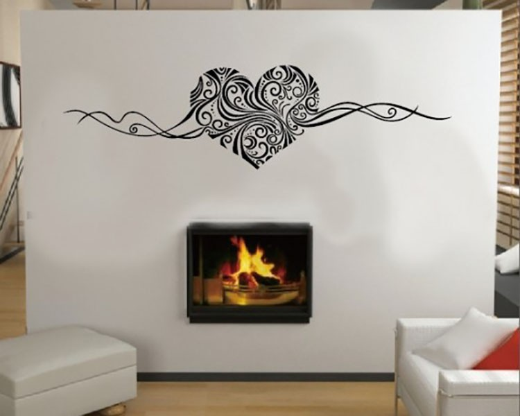Fantastic Heart Vinyl Decals Modern Wall Art Sticker