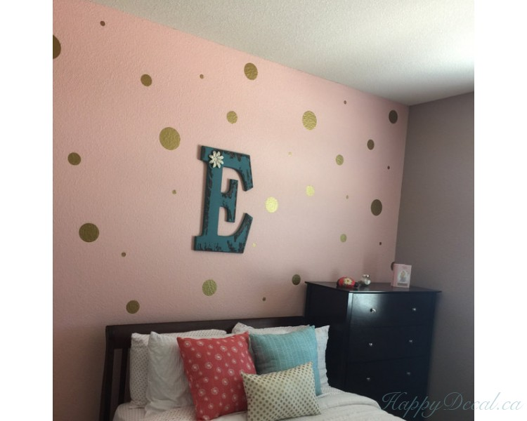 Polka Dots Pattern Assorted Spots Wall Decal Baby Nursery Modern Vinyl Sticker
