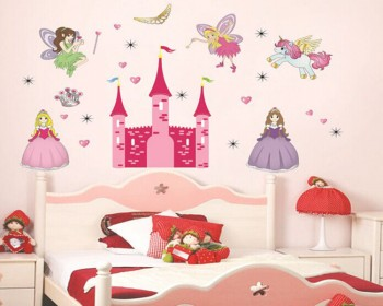 Princess Castle Girls Vinyl Wall Decals Nursery Sticker