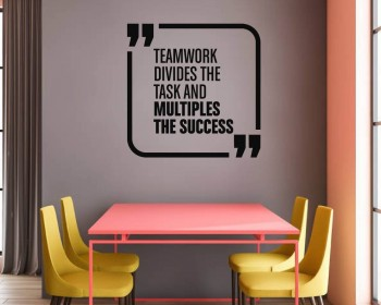Teamwork Quote Team Business Office Space Interior Stickers
