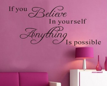 Believe in Yourself Quotes Wall Decal Motivational Vinyl Art Stickers