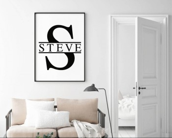 Personalized Name with Monogram Wall Decal