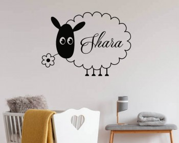 Sheep Wall Decals Personalized Name Vinyl Sticker