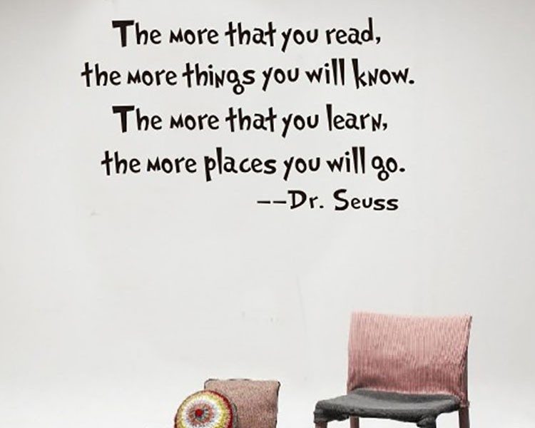 Read and Learn Dr. Seuss Quotes Wall Decal