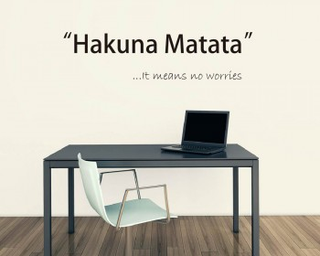 Hakuna Matata Quote Wall Stickers Inspirational Lettering Quote Wall Decal