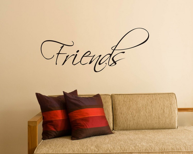 Quotes - Friends Quote Wall Stickers Vinyl Friend Lettering Wall Decal