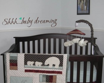 Shhh... Baby Dreaming Quotes Wall Decal Nursery Room Quote Lettering Stickers
