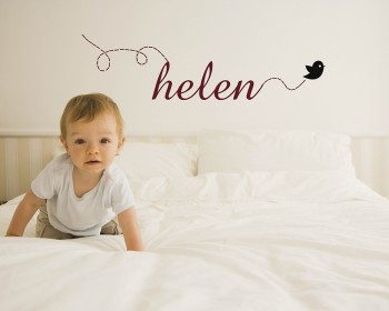 Baby Nursery Name Wall Decal Nursery Room Name Wall Sticker