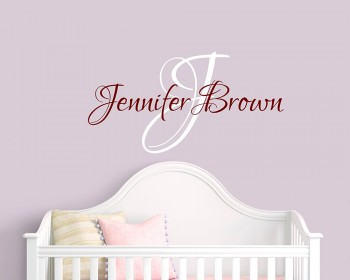 Customized Name Wall Decal Custom Family Name Wall Sticker