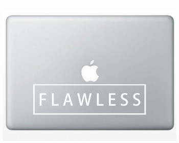 Flawless Quote Wall Decal Mac Sticker Motivational Computer Quote Decals