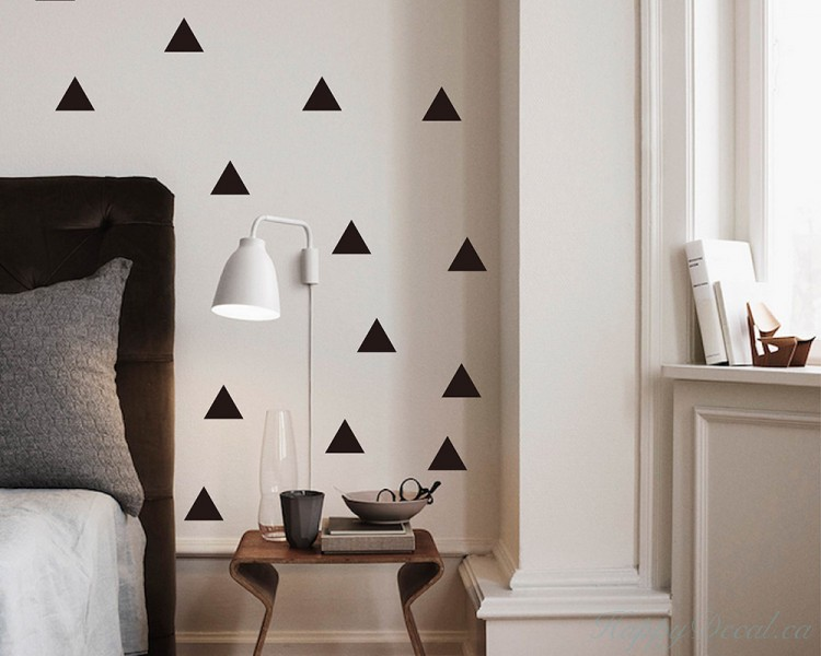 Triangle Pattern Wall Decal Baby Nursery Modern Vinyl Sticker