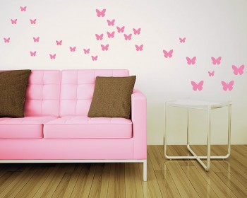 Butterfly Vinyl Decals Modern Wall Art Butterflies Stickers