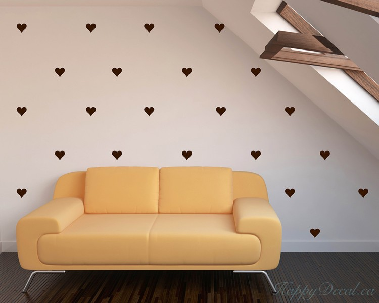 Heart Pattern Wall Decal