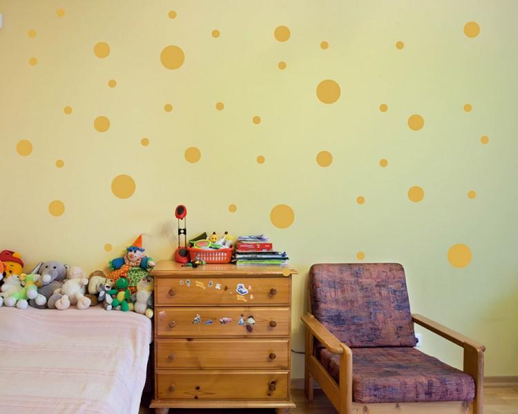Dots Pattern Assorted Spots Wall Decal Baby Nursery Modern Vinyl Sticker