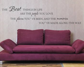 The Best Things in Life Quotes Wall Decal Motivational Vinyl Wall Stickers