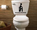 Loading Bathroom Wall Decal Closestool Sticker Modern Vinyl Wall Decals