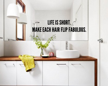 Quotes - Life Is Short Motivational Quote Wall Stickers Vinyl Lettering