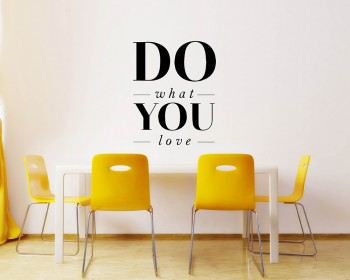 Quotes - Do What You Love Motivational Quote Wall Stickers Vinyl Lettering