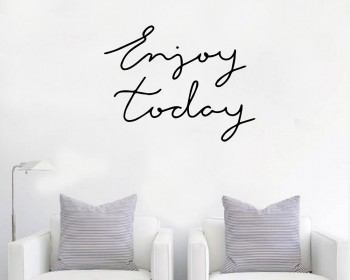 Quotes - Enjoy Today Motivational Quote Wall Stickers Vinyl Lettering