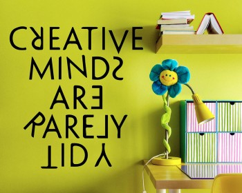 Quotes - Creative Minds Are Rarely Tidy Motivational Quote Wall Stickers Vinyl Lettering