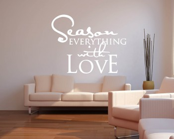Quotes - Season Everything With Love Motivational Quote Wall Stickers Vinyl Lettering