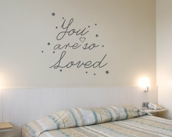 Quotes - You Are So Loved Quote Wall Stickers Vinyl Love Lettering