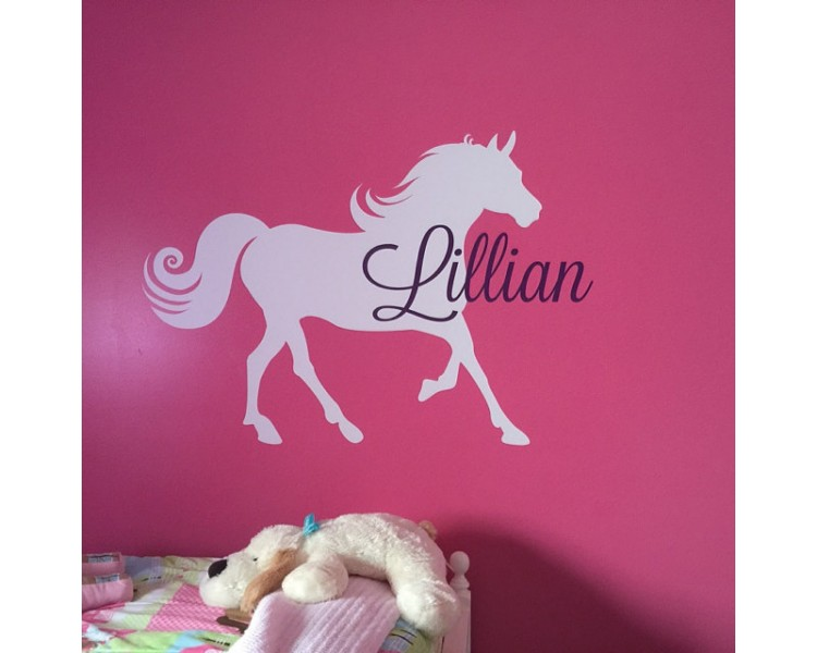 Personalized Name with Horse Wall Decal