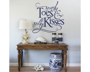 Sandy Toes And Salty Kisses Beach Decor Decal