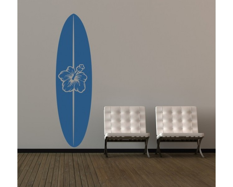 Surfboard Decal, Surfboard Wall Art, Surf Decor, Beach Decor, Coastal Decor Beach,