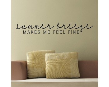 Summer Breeze.....Beach Wall Quotes Words Removable Beach Decals