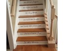 Vinyl Stair Decals - In This House We Do Quote Decals for Staircase Riser Decor - Staircase Sticker