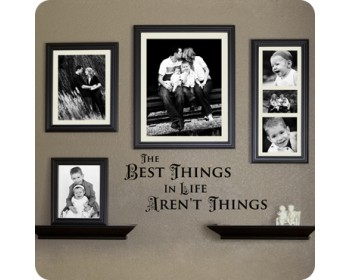 THE BEST THINGS IN LIFE AREN'T THINGS Quotes Wall Decal Motivational Vinyl Art Stickers
