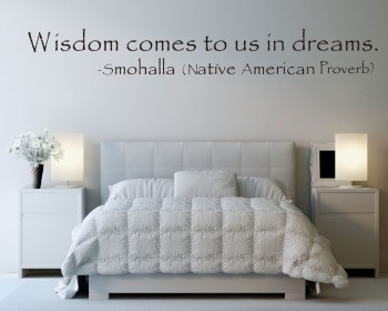 Wisdom comes to us in dreams Quotes Wall Decal Motivational Vinyl Art Stickers