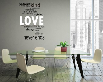 This wall decal is a kind of quote wall decal-Love Quotes Wall Decal Love Vinyl Art Stickers.