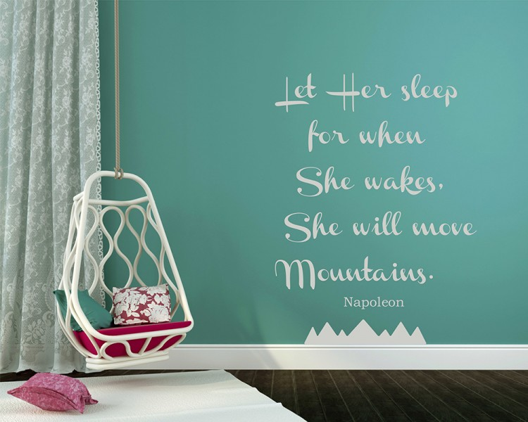 Let Her Sleep For When She Wakes - Baby Girl Nursery Room Decal