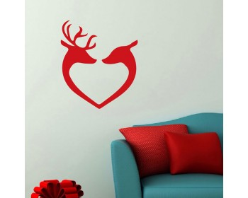 Wall Decal, Reindeer Heads, Christmas Decals, Xmas Stickers, Xmas baubles  Christmas Wall Stickers, Fun Christmas Decals