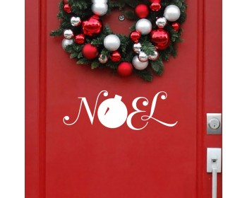 Christmas Door Decal Noel Wall Decal Noel Christmas Window Wall Stickers Christmas Decor  Christmas Ornament