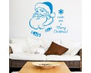 Christmas Wall Decal Quote I Wish You a Merry Christmas Decal Holiday Santa Claus Vinyl Wall Stickers Home Decor Living Room Design