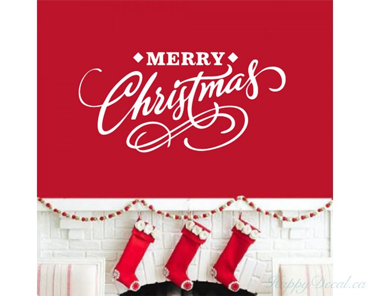 Merry Christmas Decal Christmas  Window Decal  Wall Decal, Car Decal, Laptop Decal - Christmas Decor