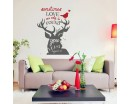 Sometimes Love Can Only Be Found Where You Least Expect To -Animal Sticker-Wall Quote- Holiday Decor - Christmas Vinyl Decal