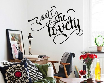 Isn't She Lovely Wall Sticker