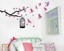 Branch And Birdcage Wall Stickers