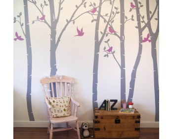 Birch Tree Forest Wall Stickers